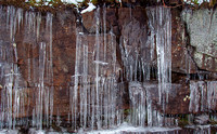 Ice over rock face, Unaka Mountain Wilderness